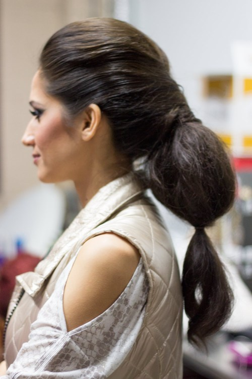 kansas city fashion week saturday beauty volume ponytail