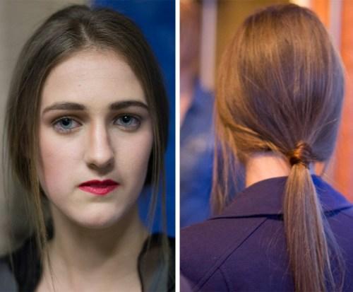 sleek ponytails and red lips backstage beauty kansas city fashion week