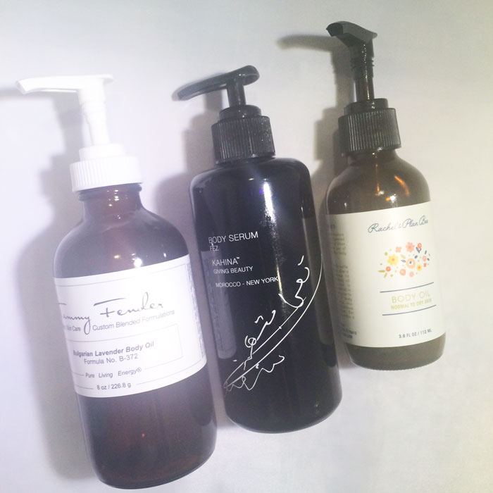 kimberlyloc's current beauty routine: body oils