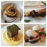 Four of the five amazing courses on the tasting menuhellip