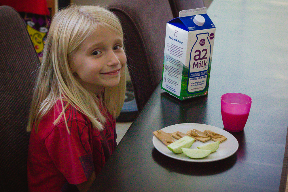 a2 Milk® makes the perfect after school snack (for kids and moms!)