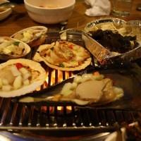 Korean seafood barbecue - 조개구이