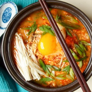 this spicy tofu stew (Sundubu) is easy to make with with recipe!