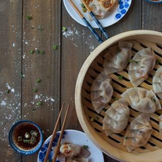 Korean Kimchi Dumplings (Mandu)
