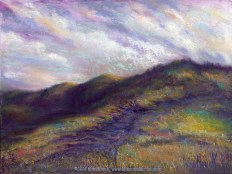Finding the Way Back Home, Original landscape painting in pastel over watercolor by Kim Novak. Copyright 2014 Kim Novak. All rights reserved.