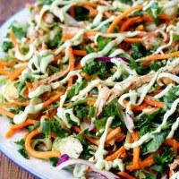 Cruciferous Crunch Salad with Avocado Dressing