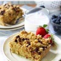 Healthy Almond Coconut Baked Oatmeal