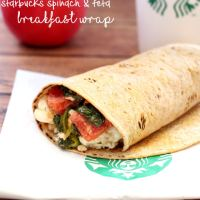 Copycat Starbucks Spinach & Feta Breakfast Wraps