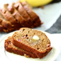 Rhubarb Banana Bread and How to Ripen Bananas in the Oven