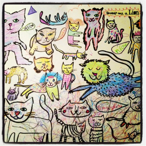 Best Hanukkah present ever. We all coloured them, and now they're hanging in Owen's room.