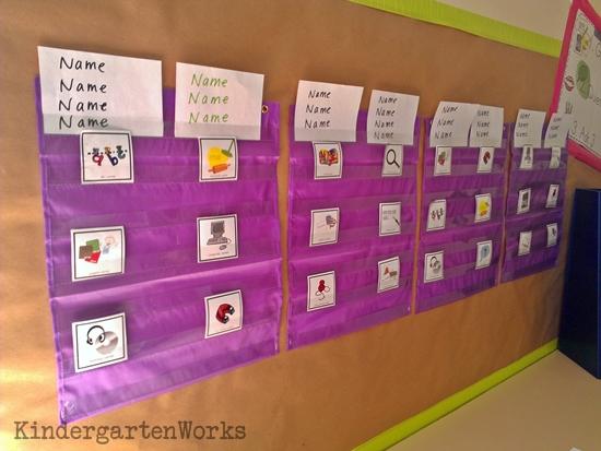 KindergartenWorks :: Kindergarten Literacy Centers {Details, Workboard, Routine}