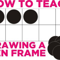 Tools for Beginning Number Sense - How to Draw a Ten Frame