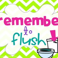 classroom routines for the restroom - wash and flush {printable}