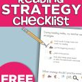 Reading Strategy Checklist Printable