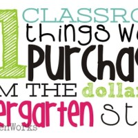 21 classroom things worth purchasing from the dollar tree {kindergarten style}