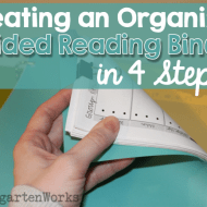 Creating an Organized Guided Reading Binder – 4 Steps