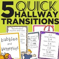 5 Quick Hallway Transitions {Printable}