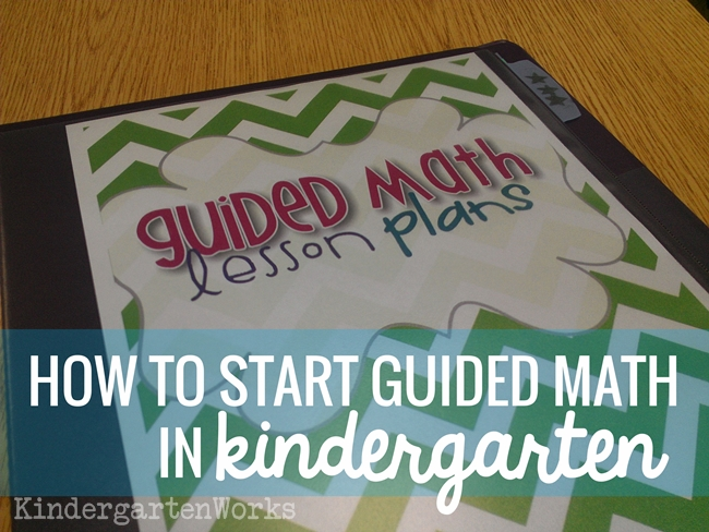 how to start guided math kindergarten