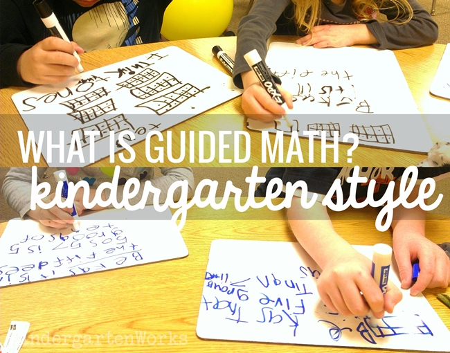 what is guided math kindergarten