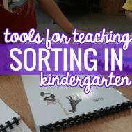 8 Tools to Teach Sorting in Kindergarten