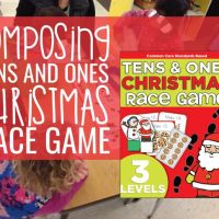 Composing Tens and Ones Christmas Race Game {Printable}