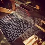 Morning light on the loom silk handmade weaving deflecteddoubleweave