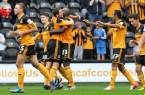 Ahmed Elmohamady celebrates Hull City