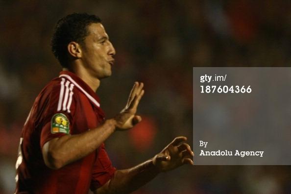 Al Ahly striker Ahmed Abdel-Zaher flashes Rabaa salute