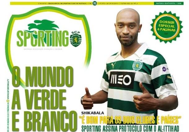 Shikabala Sporting Lisbon magazine cover
