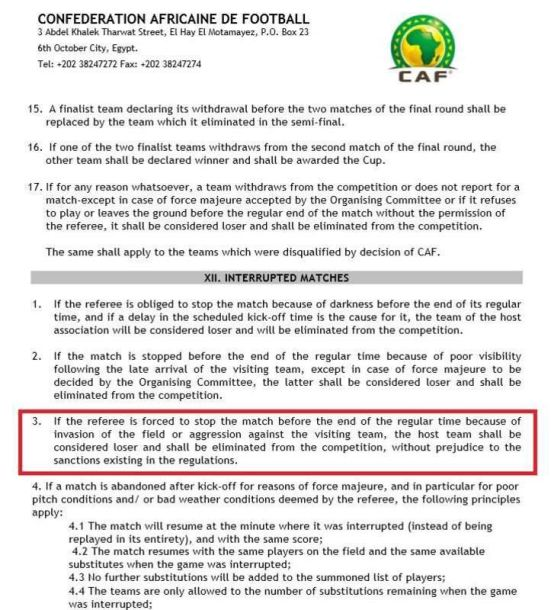 CAF Regulations