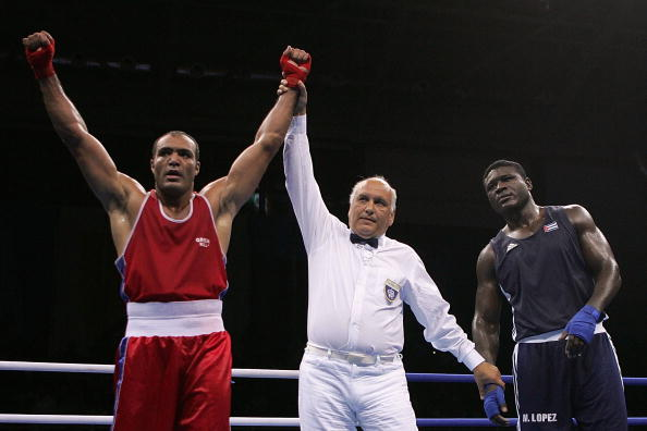 Super heavyweight silver medalist Mohamed Reda Photo: Jonathan Ferrey/Getty Images