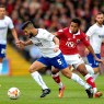 BRISTOL, ENGLAND - OCTOBER 11:  Sam Morsy of Chesterfield holds off pressure from Korey Smith of Bristol during the Sky Bet League One match between Bristol City and Chesterfield at Ashton Gate on October 11, 2014 in Bristol, England.  (Photo by Ben Hoskins/Getty Images)