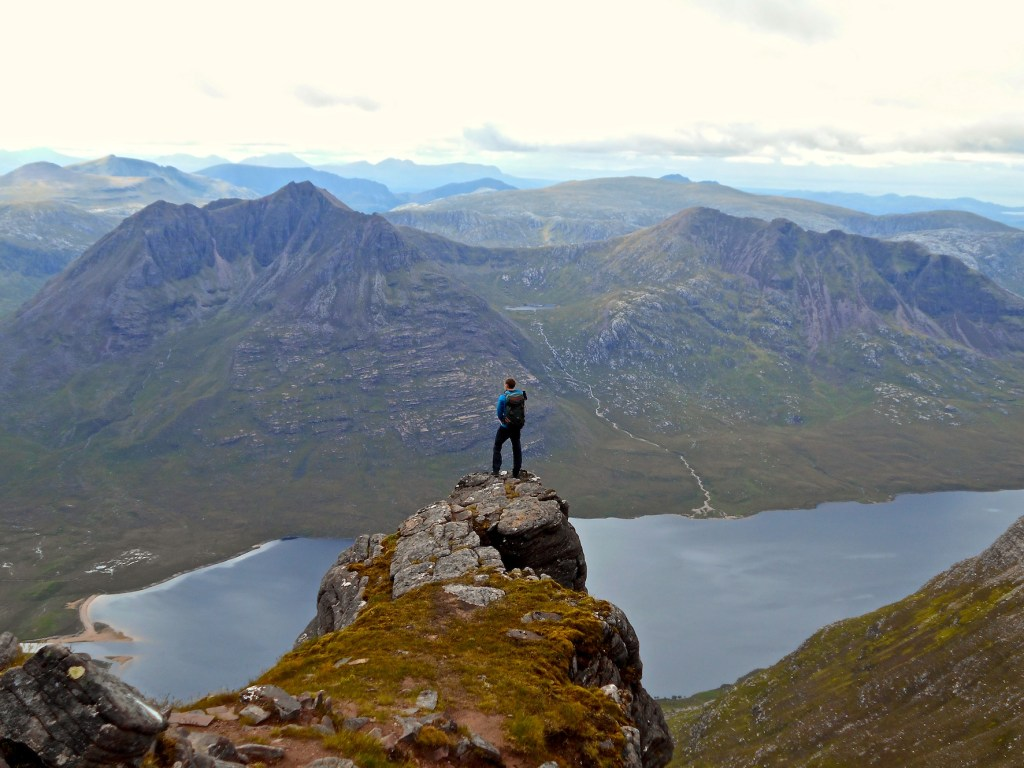 Guided Hillwalking: View of the Fisherfield from An Teallach