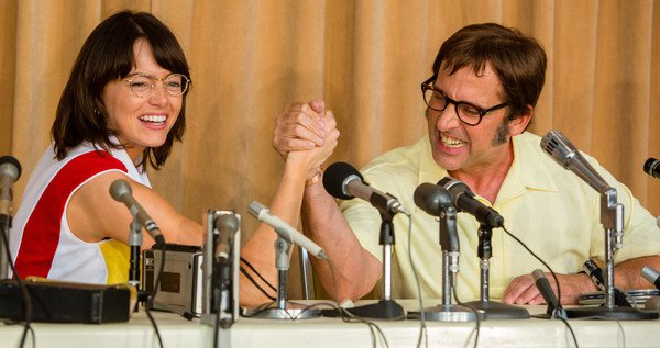 see emma stone steve carell trade quips lobs in battle of the sexes 4