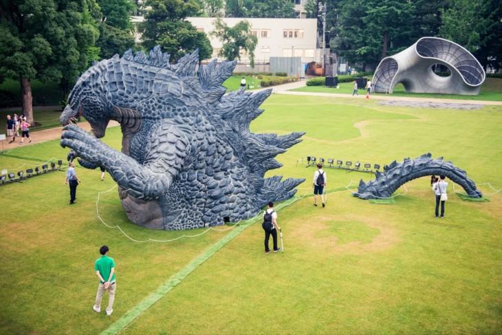 Godzilla statue at Tokyo Midtown