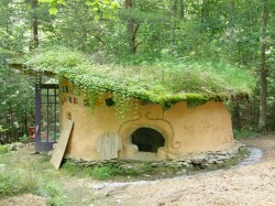 Comfy Cob House Small Grass Roof Binishell Dome Homes Sale Build Binishell Dome Homes