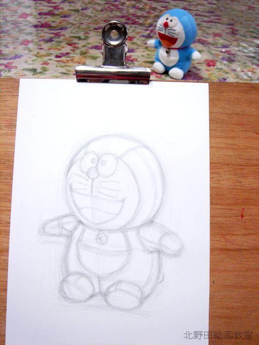 鉛筆デッサンの描き方(ドラえもんぬいぐるみ)0.5.