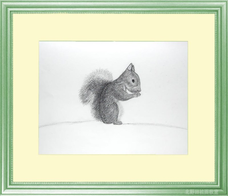 Kayoさんの鉛筆画リス2