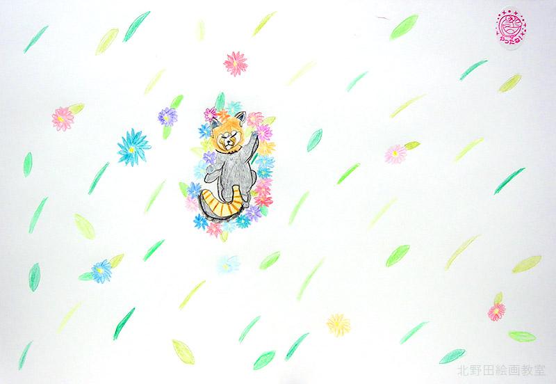 よしのちゃん色鉛筆画