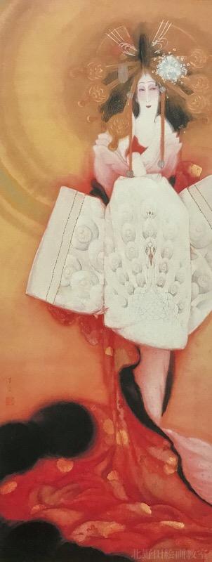 『伽羅の薫』島成園・大正9年(1920年)大阪市立美術館蔵