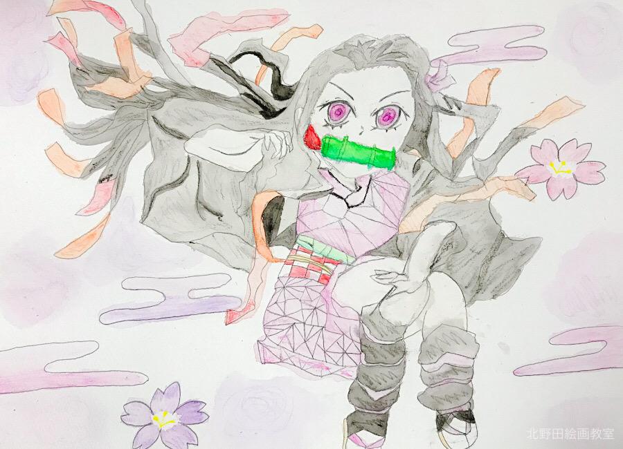 よしのちゃん 水彩画 イラスト 小学4年生