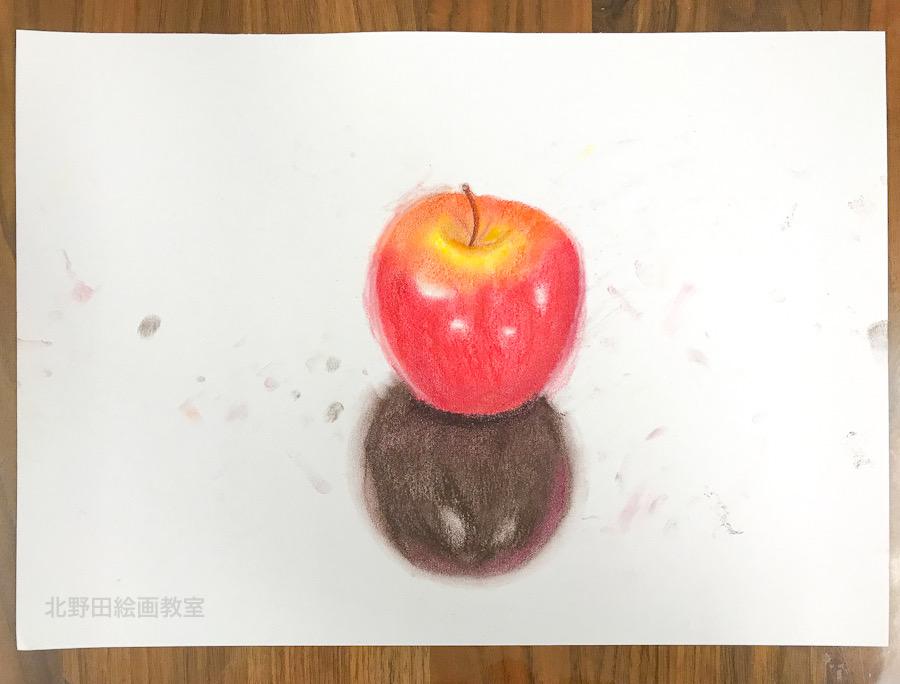 体験者 中学2年生 パステル画 2020年2月29日 雨村さん