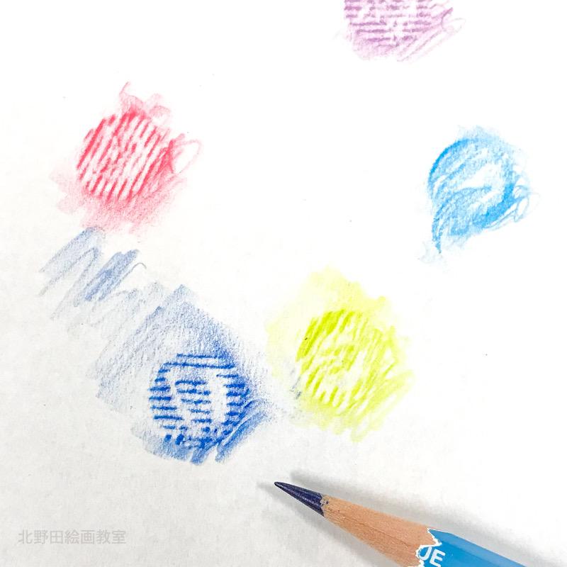 フロッタージュのワークショップ 北野田絵画教室 おはじき