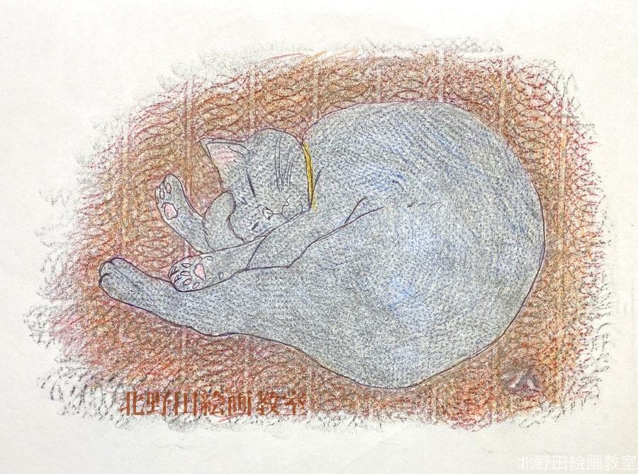 講師 フロッタージュ 眠る猫