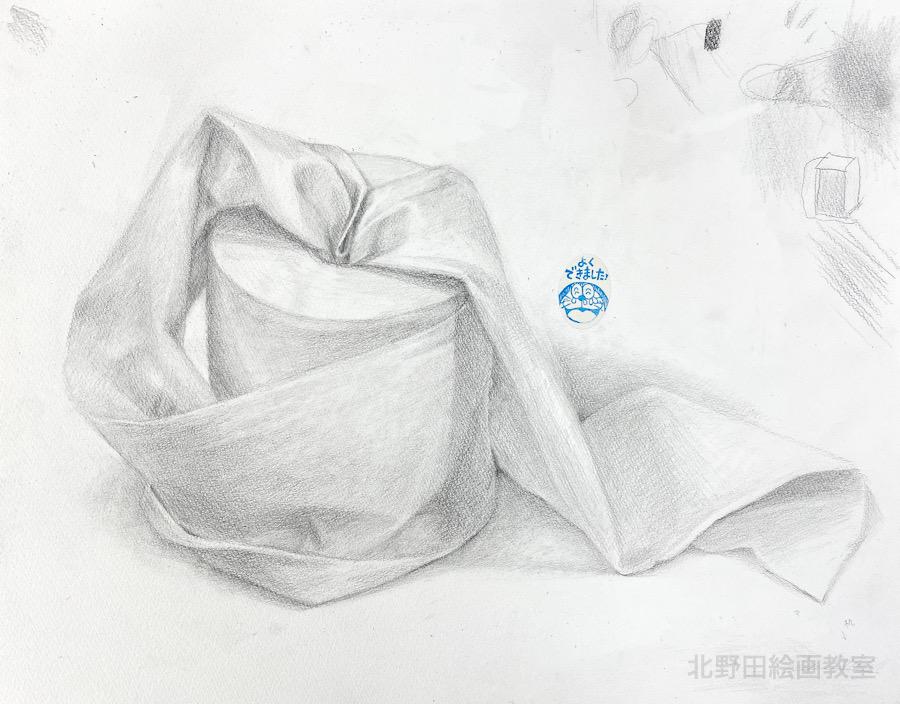 えりさん(女性20代)鉛筆デッサン・F6号