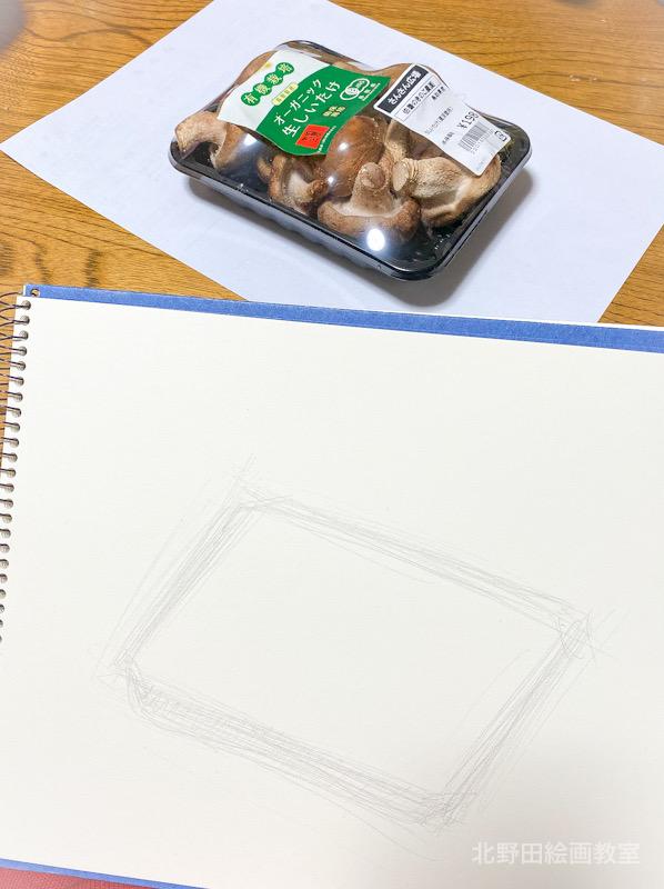 椎茸のデッサン(講師)F3号