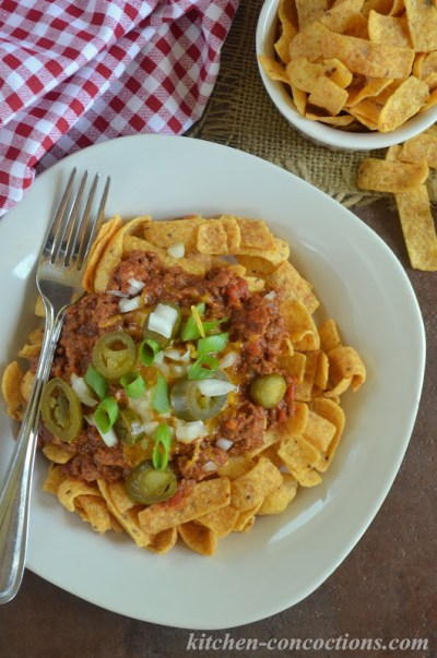 Texas Frito Chili Pie - Kitchen Concoctions