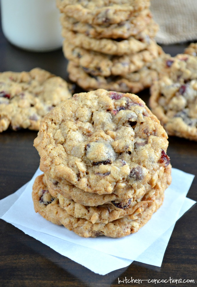 Cherry Chocolate Chip Oatmeal Toffee Cookies Kitchen