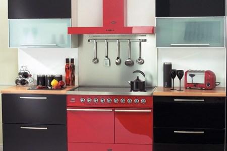 kitchen cabinets modern black 025 bta005 dynasty 100cm range cooker red arioso hood gl