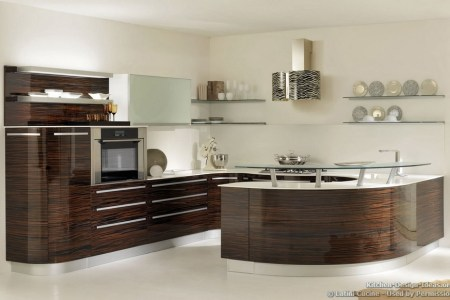 kitchen cabinets modern dark wood 051a lcc036 italian onda luxury macar ebony curved